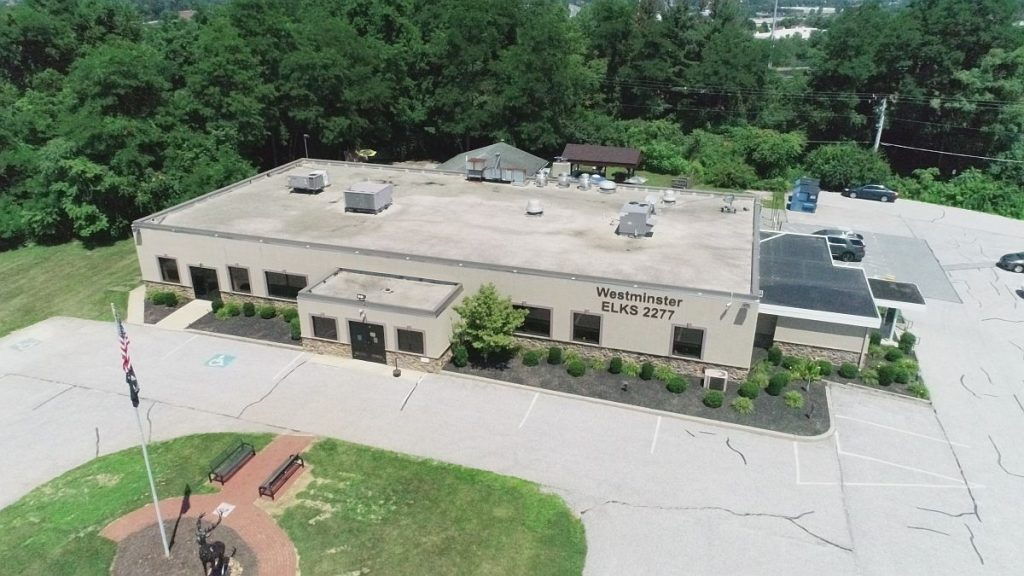 Drone photo of the Elks Lodge in Westminster MD